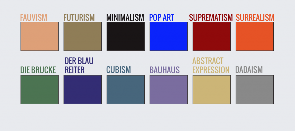 Color palette for the infographic