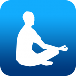 Image of person meditating in an app icon